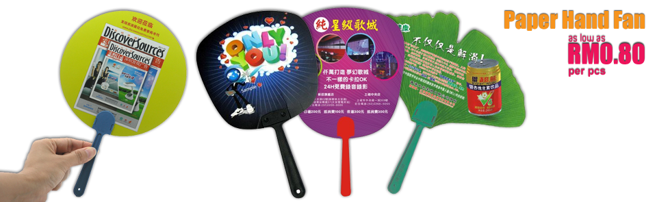 Promotional Paper Hand Fan Printing Services