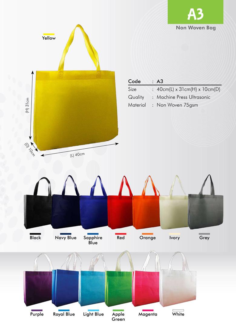 A3 Size Non Woven Bag Printing Services