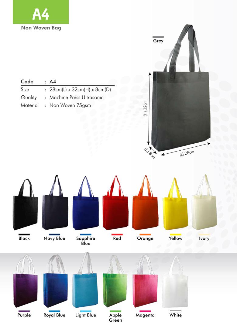 A4 Size Non Woven Bag Printing Services
