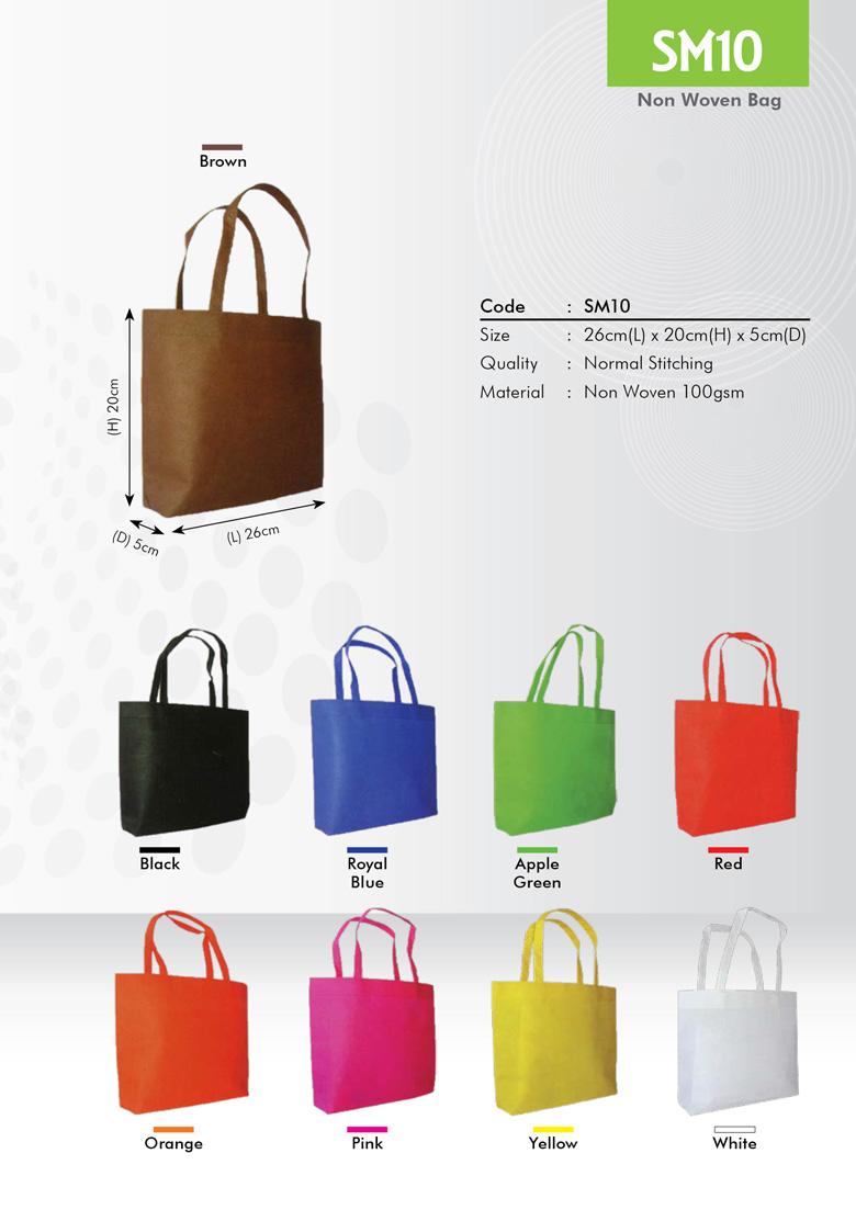 SM10 Non Woven Bag Printing Services