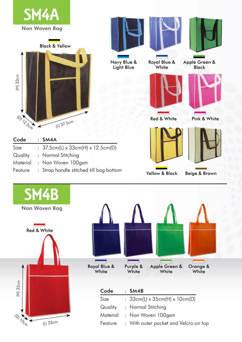 SM4A & SM4B Non Woven Bag Printing Services