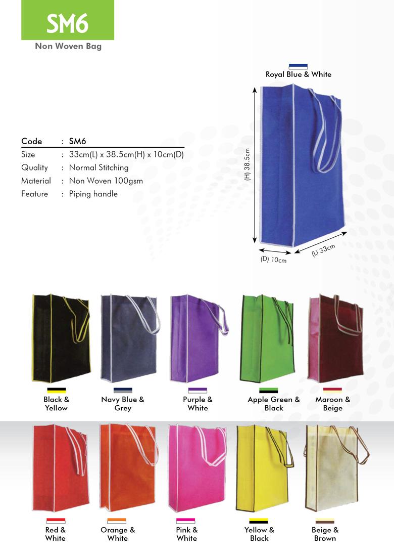 SM6 Non Woven Bag Printing Services