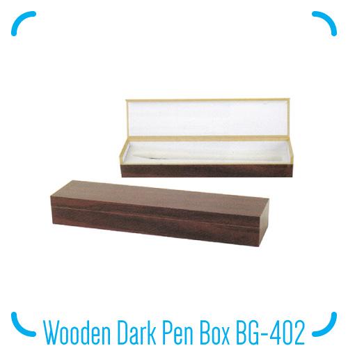 Wooden Dark Pen Box BG-402
