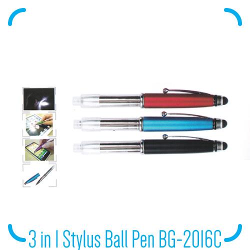 3 in 1 Stylus Ball Pen BG-2016C