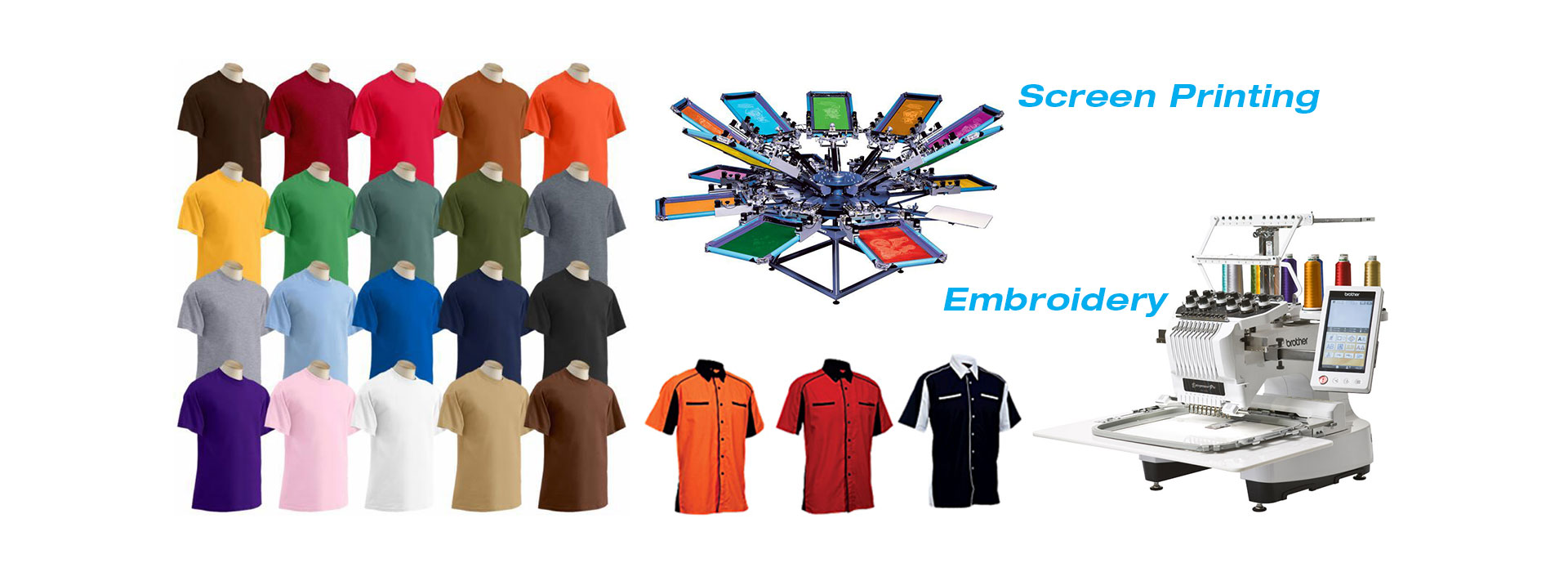 T-Shirts Screen / Silk Printing & Embroidery Services