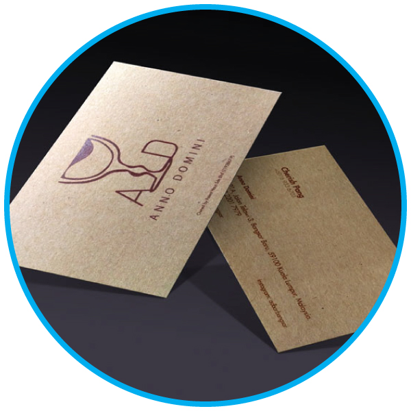 Kraft Card Business Card Printing Services Malaysia
