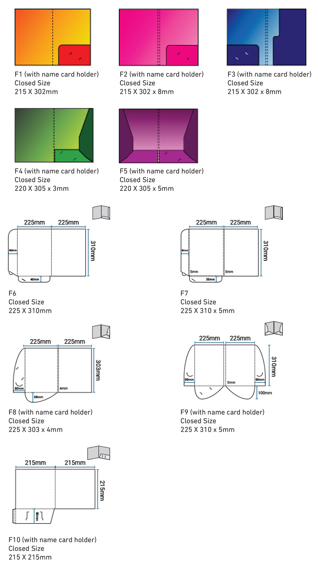 Book Printing Services Malaysia-Corporate Folder Die Cut Size