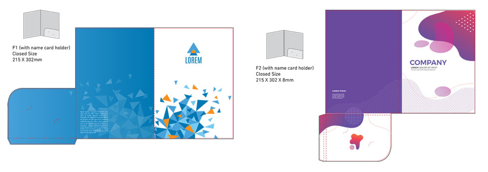 Corporate Company Folder Printing Services Malaysia 01 - Corporate Folder Die Cut Size