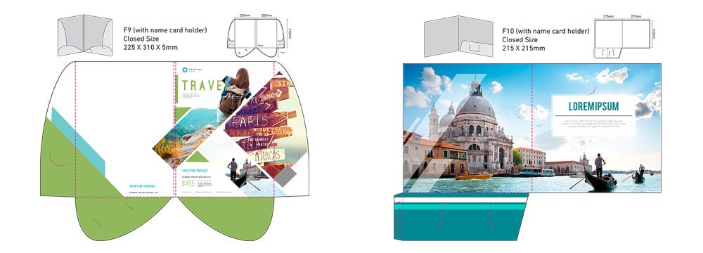 Corporate Company Folder Printing Services Malaysia 05 - Corporate Folder Die Cut Size