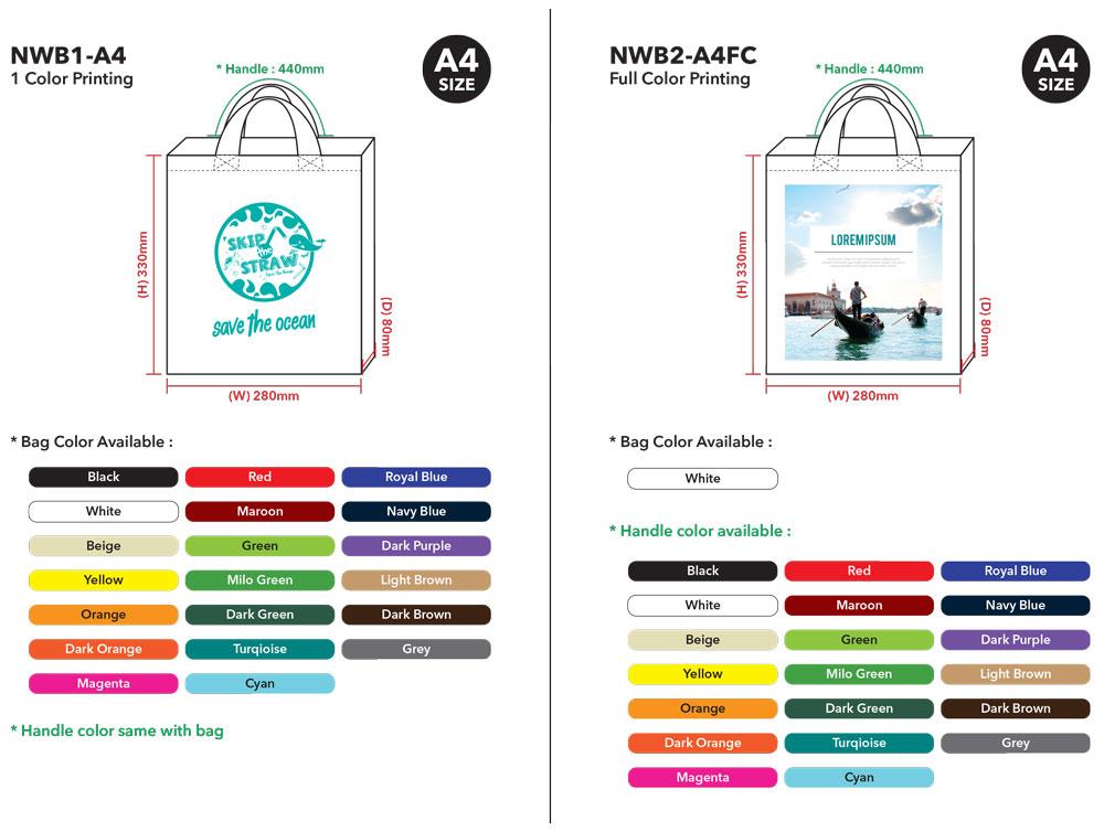 Non-Woven Bag Printing Malaysia Template 01